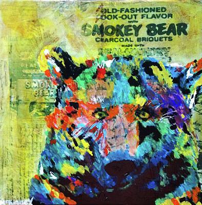 Smokey Bear Poster by Lisa McKinney