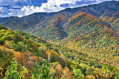Poster featuring the photograph Smoky Mountain Glory by David A Lane