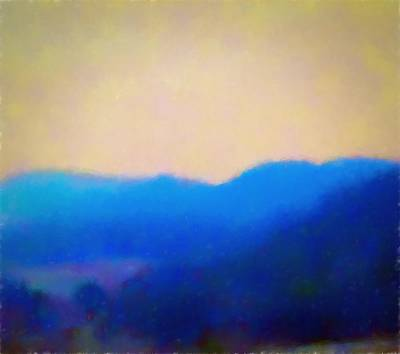 Smokey Mountains Painting Digital Photography Poster by Debra Lynch