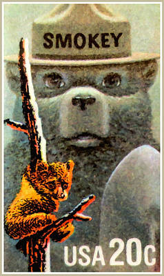 Smokey The Bear Poster by Lanjee Chee