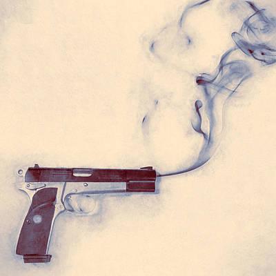 Smoking Gun Poster by Scott Norris