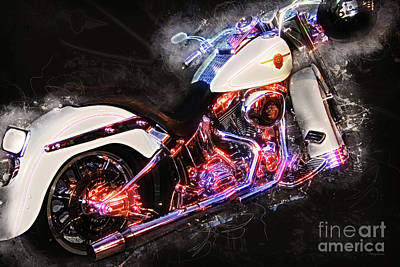 Smoking Hot Hog Harley Davidson 20161102 Poster by Wingsdomain Art and Photography