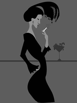 Smoking Woman  Poster by Dragana  Gajic