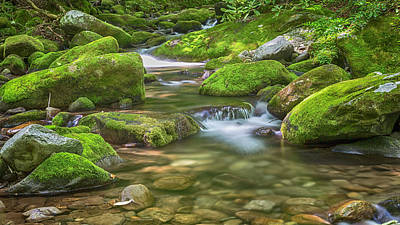 Smoky Mountain Serenity Poster by Stephen Stookey