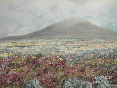 Poster featuring the painting Snaefell Heather by Stanza Widen