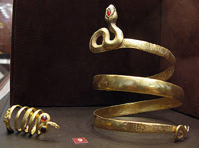 Snake Bracelet And Ring Poster by Andonis Katanos