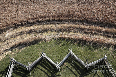 Snake-rail Fence And Cornfield Poster