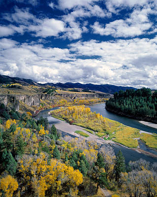 Snake River In Autumn Poster by Leland D Howard