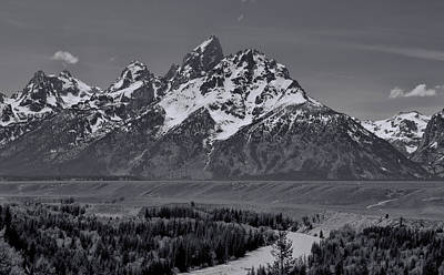 Snake River View Of Grand Teton Mountains Poster