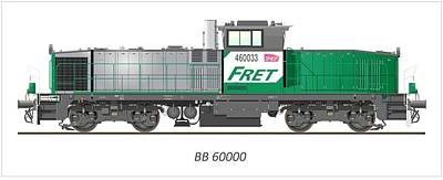 Sncf Bb 60000 Diesel Electric Locomotive Poster
