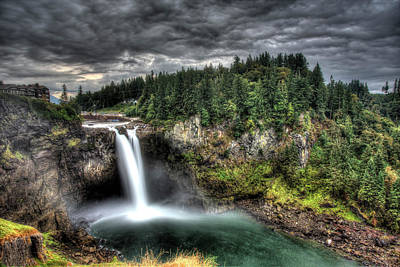 Snoqualmie Falls Storm Poster by Shawn Everhart