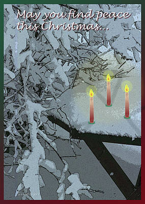 Snow And Candlelight Poster