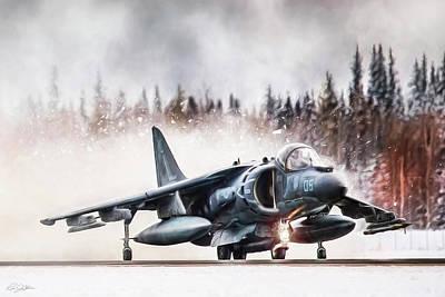 Snow Angel Harrier Poster