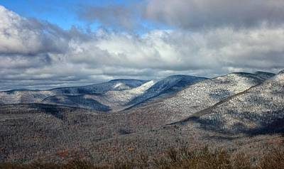 Poster featuring the photograph Snow-capped Catskills  by Jessica Tabora