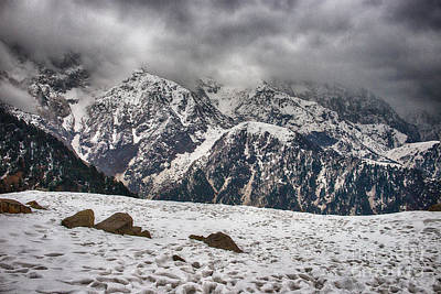 Poster featuring the photograph Snow Capped Triund Hill by Yew Kwang
