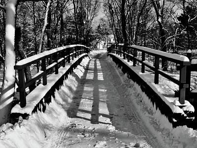 Snow Covered Bridge Poster