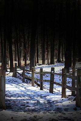 Snow Covered Bridge Poster by Kim Henderson