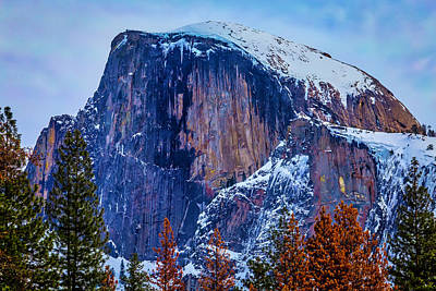 Snow Covered Half Dome Poster
