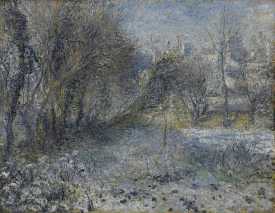 Snow-covered Landscape 1870 - 1875 Poster by Pierre Auguste Renoir