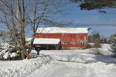 Poster featuring the photograph Snow Covered Masachussetts Barn by John Black