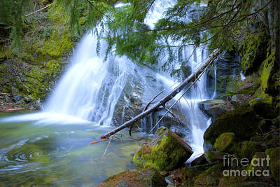 Snow Creek Falls Poster by Idaho Scenic Images Linda Lantzy