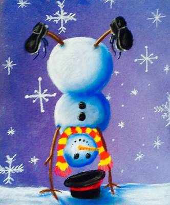Snow Dayz Poster by Leslie Encinosa Bridges