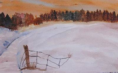 Poster featuring the painting Snow Drifts by Trilby Cole