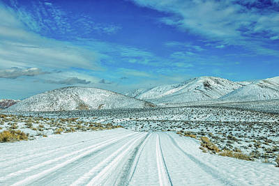 Snow In Death Valley Poster by Peter Tellone