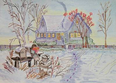 Poster featuring the painting Snow In Oregon by Connie Valasco