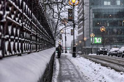 Snow In The City  Poster by Irena Kazatsker