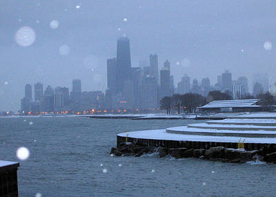 Snowy Chicago Poster