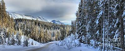 Snow On The Bow Valley Parkway Poster by Adam Jewell