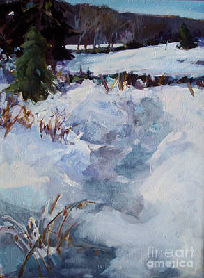 Poster featuring the painting Snow Path by Diane Ursin