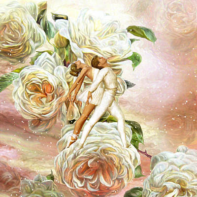 Snow Rose Ballet Poster