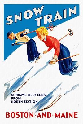 Snow Train - Restored Poster