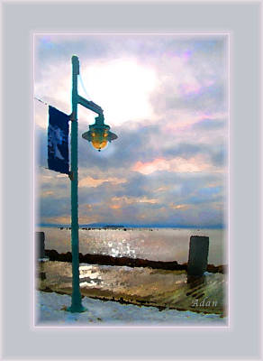 Poster featuring the photograph Snow Waterfront Park Walk by Felipe Adan Lerma