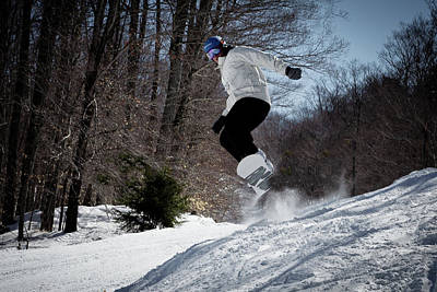 Poster featuring the photograph Snowboarding Mccauley Mountain by David Patterson