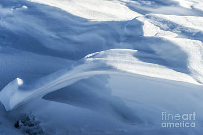 Poster featuring the photograph Snowdrift Structure by Angela DeFrias