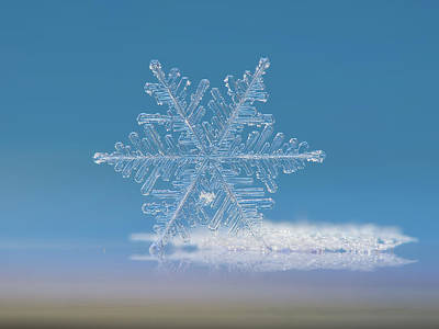 Snowflake Photo - Cloud Number Nine Poster by Alexey Kljatov