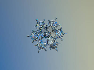 Snowflake Photo - Flying Castle Alternate Poster by Alexey Kljatov