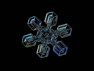 Snowflake Photo - High Voltage IIi Poster by Alexey Kljatov