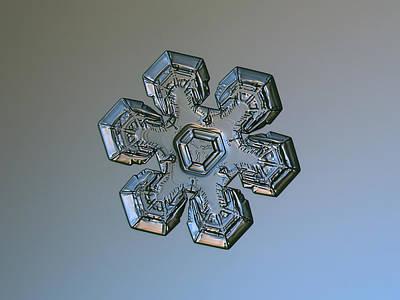 Snowflake Photo - Massive Silver Poster by Alexey Kljatov