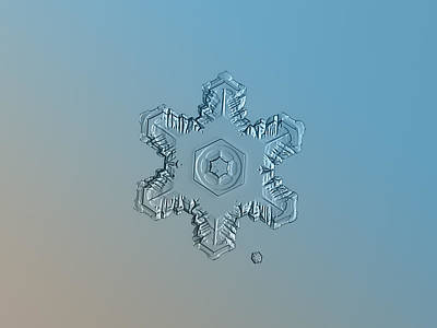 Snowflake Photo - Relief Poster by Alexey Kljatov