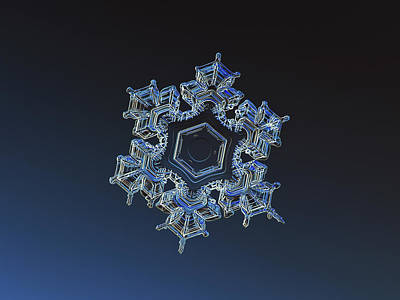 Snowflake Photo - Spark Poster by Alexey Kljatov