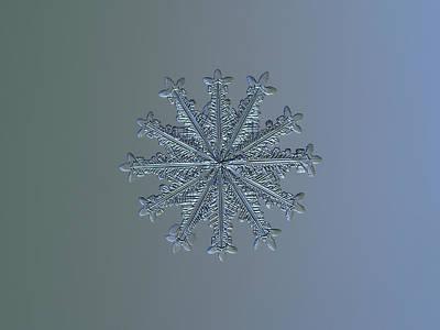 Snowflake Photo - Wheel Of Time II Poster by Alexey Kljatov