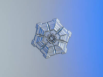 Poster featuring the photograph Snowflake Photo - Winter Fortress by Alexey Kljatov
