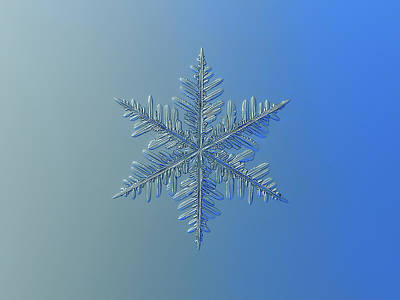 Poster featuring the photograph Snowflake Photo - Winter Is Coming by Alexey Kljatov