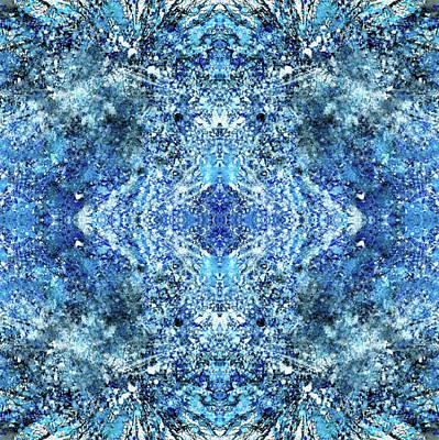 Snowflakes Of The Divine #1417 Poster by Rainbow Artist Orlando L aka Kevin Orlando Lau