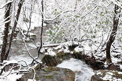 Snowing White Oak Run  Poster by Thomas R Fletcher