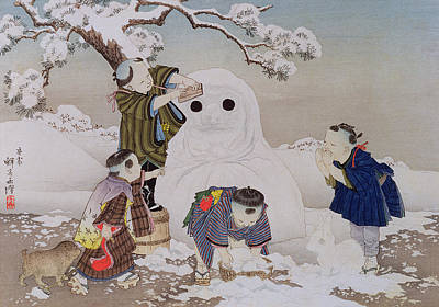 Snowman Poster by Kobayashi Eitaku